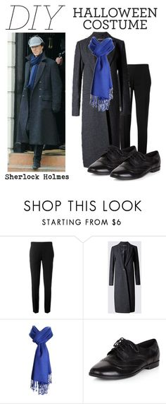 """""""DIY Halloween Costume- Sherlock Holmes"""" by mystic-punk ❤ liked on Polyvore featuring Chloé, New Look, halloweencostume and DIYHalloween"""
