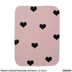 Shop Elegant cute black & blush pink heart pattern baby burp cloth created by Elipsa. Heart Patterns, Baby Patterns, Baby Shower Gifts, Baby Gifts, Baby Burp Cloths, Gifts For New Parents, Baby Safe, Baby Accessories, Soft Fabrics