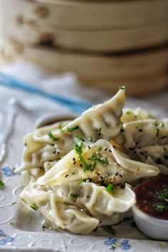 Chicken & Bok Choy Chinese Dumplings with a Trio of Dipping Sauces – SIMPLY BEAUTIFUL EATING