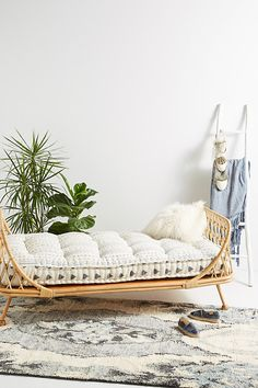 Pari Rattan Daybed By Anthropologie in Beige
