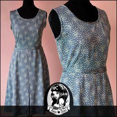 Vintage 1960s Grey Printed Geometric Scooter MOD Twiggy  A  Line Dress Size UK12