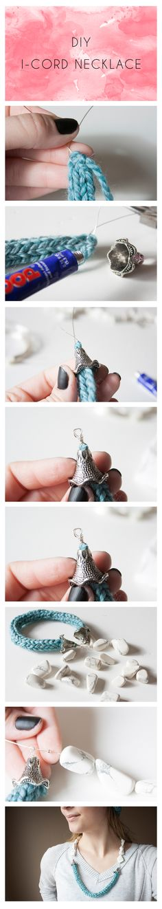 DIY I-cord necklace