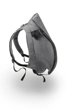 cote & ciel - isar rucksack in black melange //landofind Backpack Bags, Leather Backpack, Laptop Backpack, Le Manoosh, Fashion Bags, Fashion Accessories, Fashion Men, Lifestyle Shop, Designer Backpacks