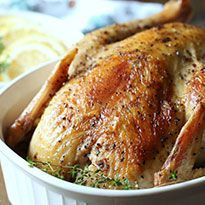 """This """"roast"""" chicken is one of my favorite Instant Pot recipes. It's so tender, and I can make it AND start a batch of broth in less time than it used to take me just to roast the chicken."""