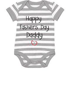TeeStars  Happy Fathers Day Daddy Infant Bodysuit Gift Baby Onesie 6M graywhite