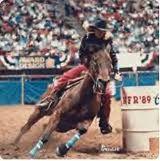 Baddest bitch ever. And horse. I wish I could be half the barrel racer she is. #charmaynejames & #scamper