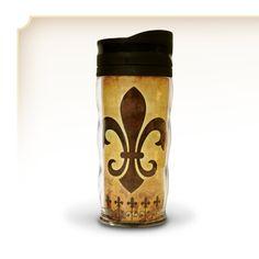 The 'famous' Fleur De Lis Travel Tumbler - $6.99
