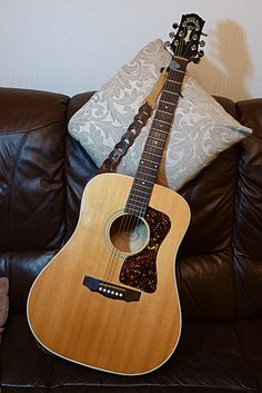My lovely Guild guitar needs new home. It will be sad to see it go. Guitar Pics, Guitar Amp, Cool Guitar, Guitar Room, Guitar Musical Instrument, Musical Instruments, Elvis Presley, Guild Acoustic Guitars, Archtop Guitar