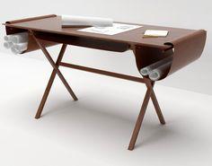 Le bureau Oscar par #GiorgioBonaguro #desk #leather