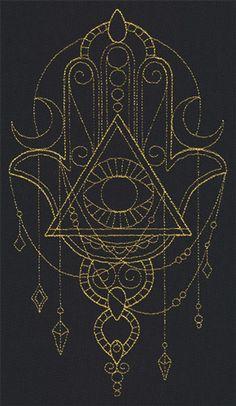 Talisman - Draping Hamsa Urban Threads: Unique and Awesome Embroidery Designs Tatoo Henna, Tatoo Art, Tattoo Drawings, Dreieckiges Tattoos, Body Art Tattoos, Script Tattoos, Arabic Tattoos, Flower Tattoos, Dragon Tattoos