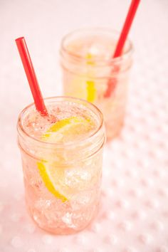 Sparkling Sweet Cherry Lemonade (1 (10-ounce) package frozen pitted sweet cherries (2 cups), thawed   1 cup freshly squeezed lemon juice   1 cup sugar   5 cups chilled seltzer water, plus more to taste)