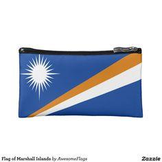 Flag of Marshall Islands Makeup Bags