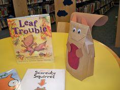squirrel crafts for preschoolers | Leaf Trouble Squirrel craft | Preschool