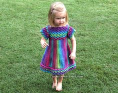 The Crocodile Stitch is featured in a easy to construct and always flattering girly dress. This adorable crochet pattern includes sizes 0 months to 4 years. Crochet Baby Dress Free Pattern, Crochet Baby Clothes, Crochet Patterns, Crochet Dresses, Crochet Ideas, Dress Patterns, Crochet Girls, Crochet For Kids, Knit Crochet
