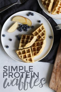 Really tasty, though for me they didn't fluff up near … Simple Protein Waffles. Really tasty, though for me they didn't fluff up near … – healthy breakfast near me – Healthy Waffles, Protein Waffles, Healthy Breakfast Recipes, Healthy Recipes, Snacks Recipes, Clean Recipes, Healthy Foods, Dinner Recipes, Vegan Recipes