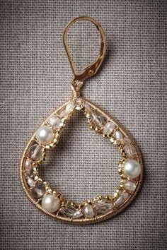 Gold Geological Treasure Earrings   BHLDN
