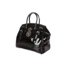 Pre-owned Ralph Lauren Ralph Lauren Ricky Bag ($1,295) ❤ liked on Polyvore featuring bags, handbags, ralph lauren bags, zipper purse, patent leather handbags, preowned handbags and zipper handbag
