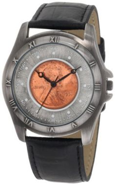 August Steiner Men's CN001S-AS Round Wheat Penny Antique Copper Collectors Coin Watch August Steiner. $39.00. A classy coin watch will make for a great addition to any coin enthusiast collection. Watch features genuine calf skin leather strap.. Timepiece is great for everyday wear and makes for interesting conversation.. Watch features genuine calf skin leather strap.. This August Steiner men's collector's timepiece features genuine Wheat penny.. Watch arrives in ...