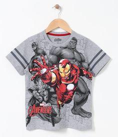 Camiseta infantil    Manga curta    Gola redonda    Com estampa    Marca: Avengers    Tecido: Meia malha             COLEÇÃO VERÃO 2017         Veja outras opções de   camisetas infantis.