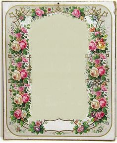 Flowers frame and label