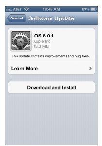 opdatering til iPhone i dag