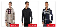 Soft Cotton Shirt In Exploded Check Burberry Shirt's available in different colors starting from AED 329/- #burberry
