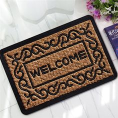 3D Rubber Floor Rug Room Doormat Bedroom Bathroom Indoor Non-slip Carpet Mats | eBay