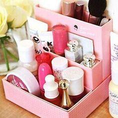 Cosméticos Maquiagem Diy Placa de papel de artigos de papelaria Caixa de armazenamento Mesa Decoração Organizador Uf