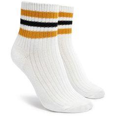 1fb3cbed69c6e Forever21 Varsity Stripe Crew Socks (14 PLN) ❤ liked on Polyvore featuring  intimates