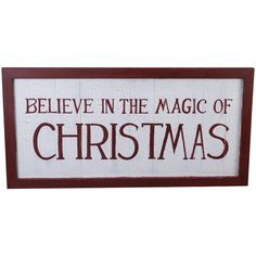 Beachcombers Coastal Life 'Believe In The Magic of Christmas' Sign ($40) ❤ liked on Polyvore featuring home, home decor, wall art, wooden signs, wood signs, wood home decor, wooden home decor and wood wall art