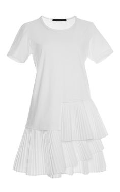 Cotton Jersey Pleated T-Shirt Dress by Thakoon for Preorder on Moda Operandi
