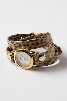 leopard printed wrap watch from anthropologie