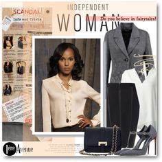 A fashion look from September 2015 by beebeely-look featuring Joseph Ribkoff, Tiffany & Co., Brian Atwood, Aspinal of London, Fall, Scandal, scandalABC, premier...
