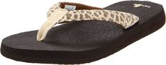 Sanuk Women's Yoga Wildlife Flip-Flop ** Learn more by visiting the image link. (This is an affiliate link) #shoestrend
