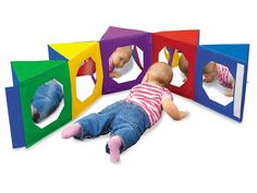 Look-At-Me Mirror Center at Lakeshore Learning Infant Room Daycare, Toddler Rooms, Toddler Play, Baby Play, Kids Rooms, Lakeshore Learning, My Mirror, Mirrors, Church Nursery