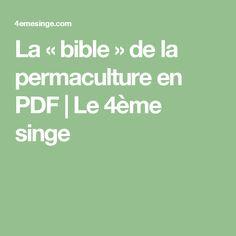 La «bible» de la permaculture en PDF | Le 4ème singe