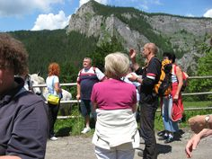 Working as a mountain guide, with a  hungarian tourist group in Bicaz Gorge, Transylvania #greatwalker