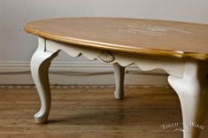 Shabby Chic Oval Coffee Table no. 01