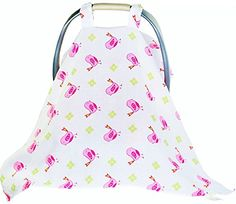 Baby Nursing Cover  Baby Car Seat Covers For Boy Or Girl Baby Car Seat Canopy XL Size 48 Length 36 Wide Multi Use Muslin Baby Stroller Cover is Soft  Breathable It Protects From Sun Bugs  Dust *** Want additional info? Click on the image.