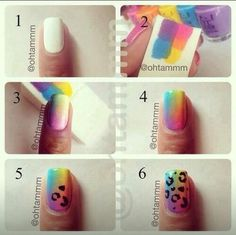 Been experimenting with make up sponges & nail polish but only with 2 colours. Gonna have to try this