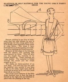 The Midvale Cottage Post: Home Sewing Tips from the 1920s - A Frock Trimmed with Self-Fabric Plaits
