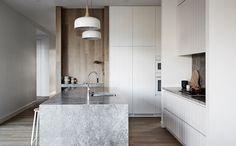 Marble stone kitchen island