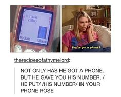 So if Rose has his number…
