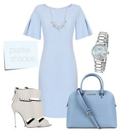 """Pastel shades"" by horemka on Polyvore featuring Michael Kors, Giuseppe Zanotti, Post-It, Givenchy, Gucci and lightblue"