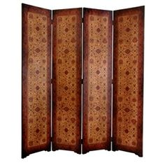 6 ft. Tall Olde-Worlde Victorian Room Divider Decorative Screen