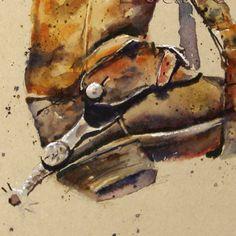 COWBOY BOOTS Watercolor Print by Dean Crouser by DeanCrouserArt, $25.00