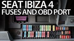 Where are #fuses and #OBD2 port in #Seat #Ibiza MK4 (on-board diagnostic interface) #cars