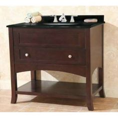 "Check out the Empire Industries OE36SC Open Empress 36"" One Drawer Vanity in Spice Cherry priced at $735.00 at Homeclick.com."