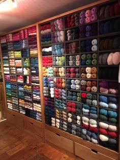 Rowan Yarn at Jimmy Beans Wool Rowan Yarn, Yarns, Wine Rack, Wool, Knitting, Storage, Furniture, Instagram, Home Decor