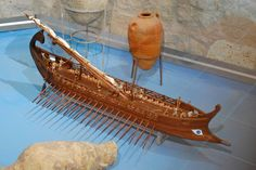 "Etruscan ship with the ""eye"" trademark. Museo Archeologico ""Ferruccio Barreca"" Sant'Antioco"